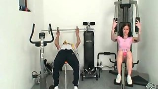 Cute Petite Girl Lussy Has Fun At The Gym