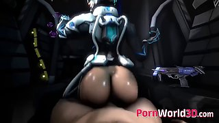 Slutty 3d characters with cool body enjoyed a big cock