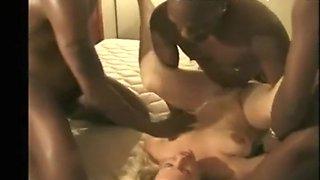 Wife Interracial Big Black Cock Hotel Gangbang