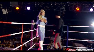 Pro wrestling babe loves to fuck in the middle of the ring