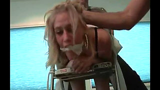 Bitch Blonde Boss Attacked Fucked and Strangled by Ex Employees