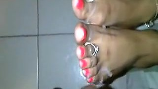 Indian feet cumshot comp