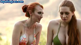 Squirting ginger seduced by fingering and oral by Milfs