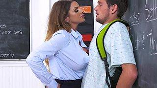 Busty Teacher With Cum On Face