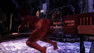 big ass 3d animation duble sex machine