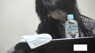 Chinese girl is masturbating pussy in panty on hidden cam