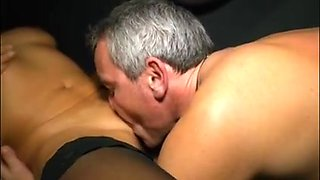 Aged couple fucking on video before a sexy cum blast