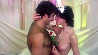 Brunette beauty consummated her vows as wife (1976 XXX) Wedding night sex