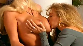 Busty Blonde Cheats On Hubby With Blonde
