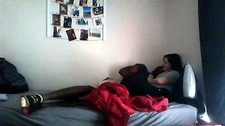 Hot sex in college dorm hidden cam