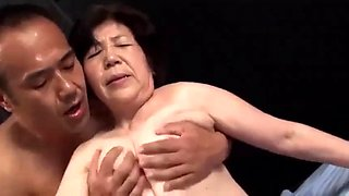 76 Years Old Japanese Granny Fulfills a Fantasy