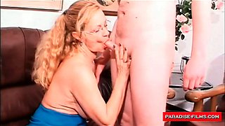 Mature secretary loves to swallow a load of cum