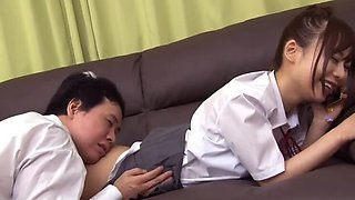 Japanese schoolgirl do not notice even if she was inserted 01