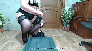 Russian Mistress. A gift for a slave