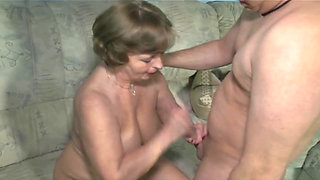 German Granny Swallows Load