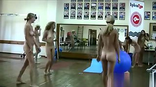 Naked teens in gym