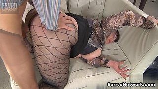 MaturesAndPantyhose Video: Caroline M and Morris