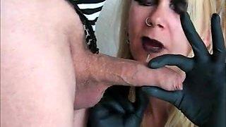 German Femdom - Hard Cock Biting