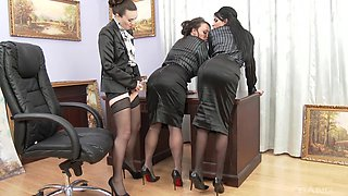 Lesbian threesome with Tiffany Doll including a lot of fisting