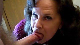 Granny swallows cum part 2