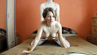 Russian Wife moaning fucking