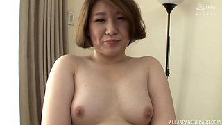 Fat Japanese Kimura Youko takes a dick in mouth and old pussy