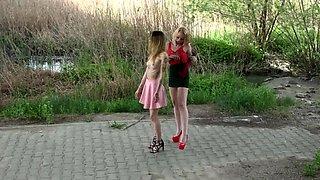 Lezdom Aurora and Suzi