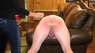 Spanked Hard With The Carpet Beater