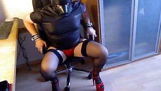 petplay red hotpants red heels