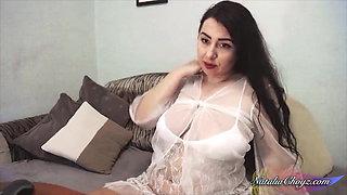 Cute Horny Bride Masturbate Pussy Sex Toy and Orgasm