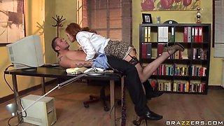 Office-like seduction of whore-secretary