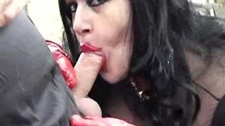 Bbw goth in latex sucks dick - tbj - bienne